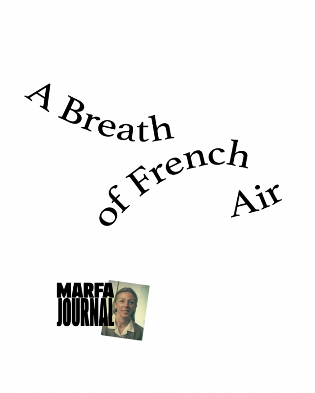 Marfa Book - A Breath Of French Air