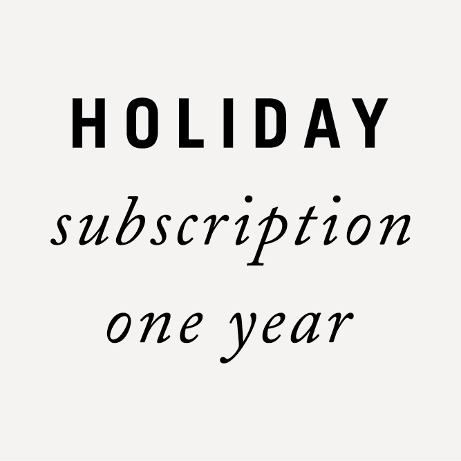 Subscription Holiday 1 year