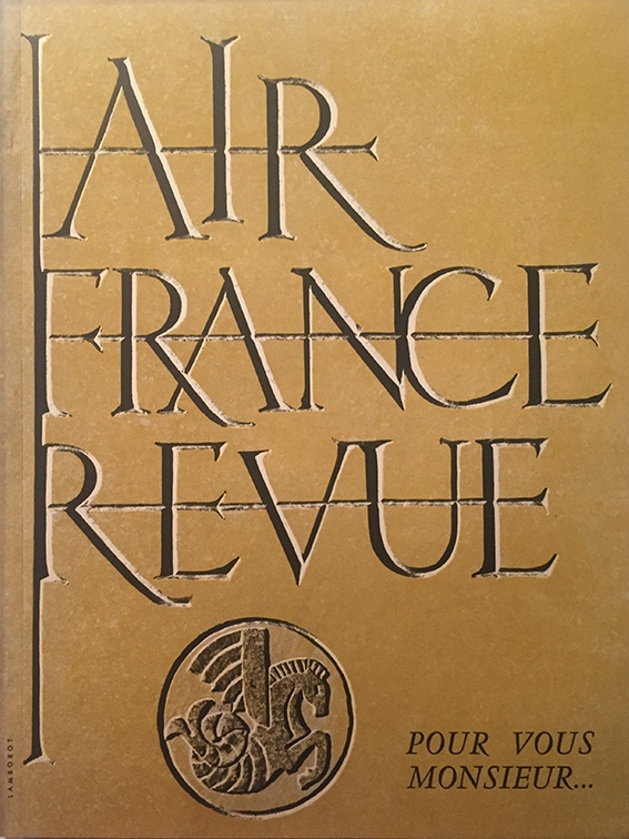 Air France Revue 2ème Trimestre 1954